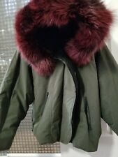 4c00cad336be SOIA & KYO Womens Coat Jacket Hooded Faux Fur olive green Winter size Large