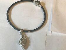 Concha De Mar TG134 de estaño bien inglés en una pulsera serpiente de imitación de cuero