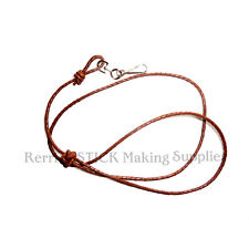 BRAIDED DARK TAN LEATHER LANYARD FOR WHISTLES,KNIFES NO 405