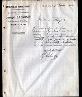 """MONTLUCON (03) Ets de TRAVAUX PUBLICS """"Joseph LABROSSE"""" en 1910"""