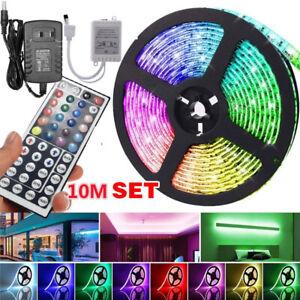 32.8ft LED Strip Light SMD2835 RGB Color Changing Flexible DC12V 44Key Remote