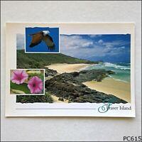 Fraser Island Qld Rocky Outcrops Eastern Coastline Postcard (B) (P615)