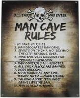 MAN CAVE RULES Decal Sign Bar Pub Window Wall Cool STICKER Garage Alcohol Beer