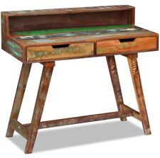 Vintage Writing Desk Home Office Furniture Reclaimed Wooden Table Retro Computer