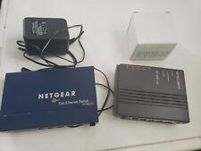 Net Gear 5 port Fast Ethernet Switch Fs105 & Compaq Netelligent 10base-T Hub