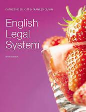 English Legal System by Catherine Elliott, Frances Quinn (Paperback, 2009)
