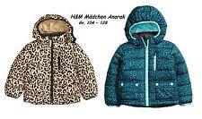 H&M Kinder Anorak gemustert Gr. 104 - 128 petrol oder gold