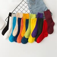 1pair New Socks Autumn Winter Mid Ankle Socks Casual Soft Cotton Stockings Solid