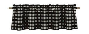 lovemyfabric Gingham Checkered Poly Cotton Plaid Design Kitchen Curtain Valance