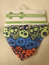 Wag-A-Tude Skull Bandana Collar Size X-Small NWT