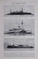 1897 BOER WAR FRENCH NAVY CHARLES MARTEL HOCHE TORPEDO TRANSPORT FOUDRE