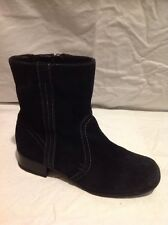 Footglove Black Ankle Suede Boots Size 3.5