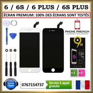 ECRAN LCD PREMIUM VITRE TACTILE IPHONE 6  6 PLUS  6S  6SP NOIR BLANC SUR CHASSIS