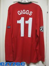 BNWT GIGGS #11 Manchester United 2009-2010 Long-Sleeves Home Shirt XXL w/ Badges