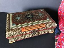 Old Middle East Inlaid Hand Made Wooden Box …beautiful display / collection item