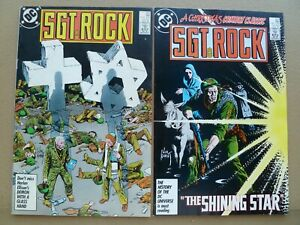 Sgt. Rock lot of 2 #'s 413 & 414   Our Army at War Joe Kubert cover art 1987  DC