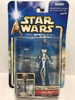 Star Wars Taun We Kamino Cloner w clone chamber, blue-carded '02 #25 AOTC Hasbro
