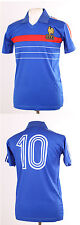 FRANCE EURO 84 1984 RETRO PLATINI 10 BLUE FOOTBALL SHIRT MAILLOT SMALL S
