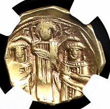 Andronicus II Palaeologus with Michael IX. 1282-1328, Gold Hyperpyron, NGC Ch F