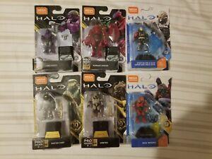 Halo Mega Construx Heroes Series 8 10 11 Lot of 6