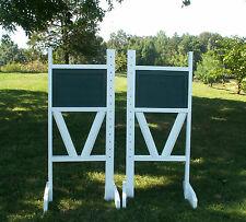 "Horse Jumps Solid Panel Top 2 Rail ""V"" Bottom Jumper Wing Standards Pair/6ft#258"