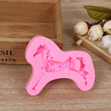 Silicone Candy Chocolate Cake Cookie Decorating Soap Molds horse Mould DIY Decor