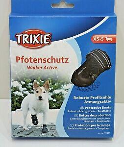 Trixie Dog Shoe Size XS - S - Paw Protection Walker Active Black 2 Piece