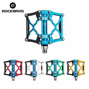 """Rockbros Bicycle Pedal Mountain Bike Pedal Aluminum Alloy Axle Anti Slip 9 / 16"""""""