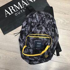 BNWT Armani Jeans Camuflaje Mochila Bolso Amarillo Mochila Plegable 100% Genuino