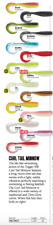 RAPALA TRIGGER X 1.5inch CURL TAIL MINNOW - Variety of Colours 10pcs per package