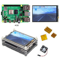 Raspberry pi 4 model B (4GB RAM) kit with 3.5 inch LCD dispaly Acrylic case