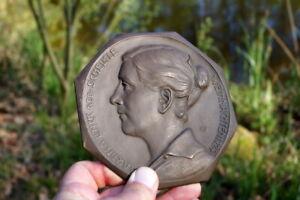 Unikat antikes Bronzebild Martina Linck geb.Schelkle 1924 seltenes Sammlerstück