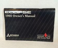 1992 Mitsubishi Eclipse ORIGINAL Owner's Manual