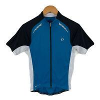 Pearl Izumi Elite Womens Cycling Jersey Size Small Blue Full Zip Short Sleeve