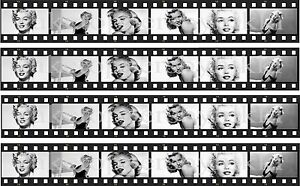Edible Marilyn Monroe 4 Filmstrips Uncut Icing Cake Topper FAB FOR RIBBONS