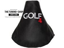 """Gear stick Polaina Para VW Golf 4 1997-2003 Cuero """"Golf 4"""" Rojo Bordado"""