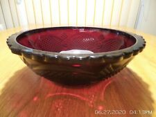 """Avon 1876 Cape Cod Ruby Red Glass Large Serving Bowl 8.5"""""""