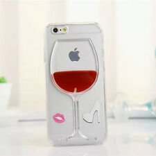 Red Wine Glass Moving Dynamic Liquid 3D Phone Case Covers For iPhone and Samsung