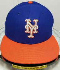 New York Mets~MLB~New Era~59FIFTY~Authentic~On Field~Gray Logo~Blue & Orange