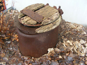 Antique toilet stool lid SHEFFIELD ALA. FLY PROOF