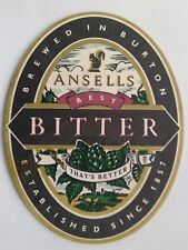 Ansells Best Bitter That's Better Brewed In Burton Est Since 1857 Coaster (B318)