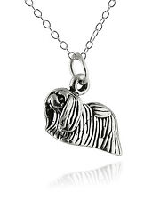 Pekingese Dog Necklace  00004000 - 925 Sterling Silver - 3D Animal Charm Dogs Pet Pets New