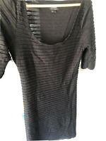 Blanco Fitted Black Dress-L - Short Sleeve Used Twice. Casual Look