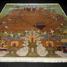 Designer Orient Teppich 240 x 234 cm Nepal Tibet Bild Handgeknüpft Tapijt Tapis