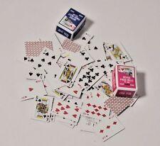Mini Kartenspiel 54 Karten Puppenhaus Spielzeug Dekoration Miniaturen 1:12