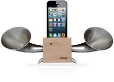 iPhoneSE/5c/5s/5/4s/4/iPodTouch5 Loudspeaker.Docking stand.Horn stand.Wood S