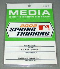Official 2002 MLB Spring Training Baseball Media Pass