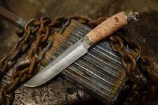 Russian steel damascus ethnic knife wood handmade army ussr hunting
