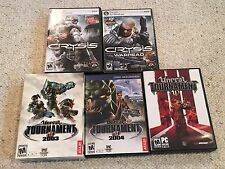 PC FPS Lot: Crysis, Crysis Warhead, Unreal Tournament 2003, 2004, III