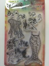 Ranger Dyan Reaveley's Dylusions Clear Stamp Set PLENTY OF FISH IN  THE SEA NEW